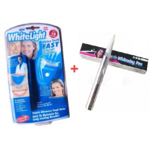 White Light Teeth Whitening KIT & Teeth Whitening Pen